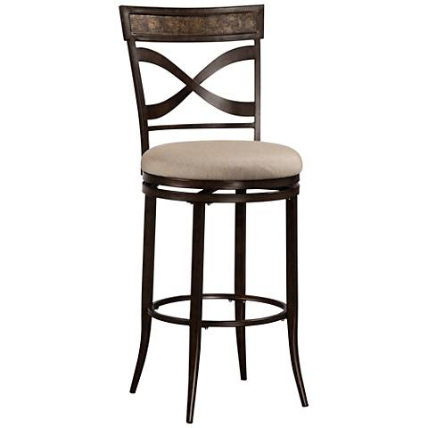 "Hillsdale Wayborn 26"" Ash Swivel Outdoor Counter Stool"