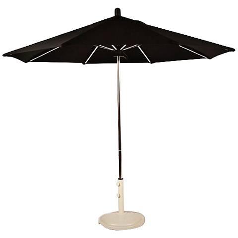 Santa Barbara 8 3/4-Foot Black Sunbrella Patio Umbrella