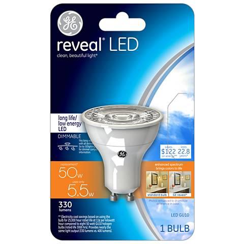 GE Reveal 5.5 Watt GU10 Dimmable LED Light Bulb