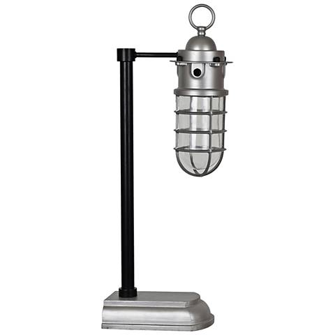 Crestview Collection Industrial Black and Silver Desk Lamp