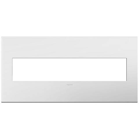 adorne Gloss White with Black Back 5-Gang Wall Plate