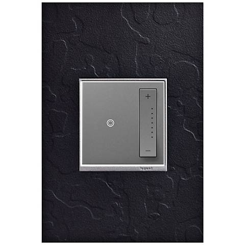 adorne Hubbardton Forge Black 1-Gang Wall Plate w/ Dimmer