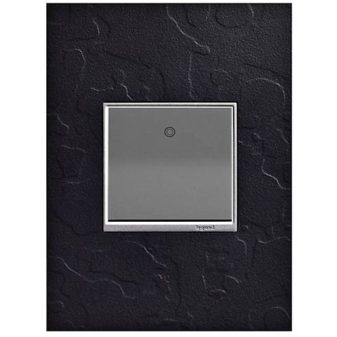 adorne Hubbardton Forge Black 1-Gang Wall Plate w/ paddle Switch