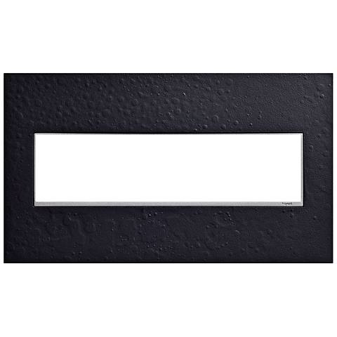 Hubbardton Forge Black 4-Gang Wall Plate
