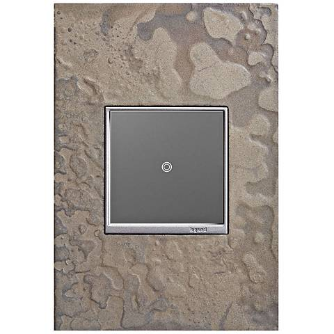 adorne Burnished Steel 1-Gang Wall Plate w/ sofTap Switch