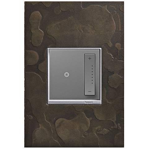 adorne Hubbardton Forge Dark Smoke 1-Gang Wall Plate w/ Dimmer