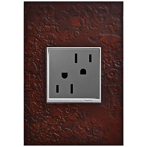 adorne Hubbardton Forge Mahogany 1-Gang Wall Plate w/ Outlet