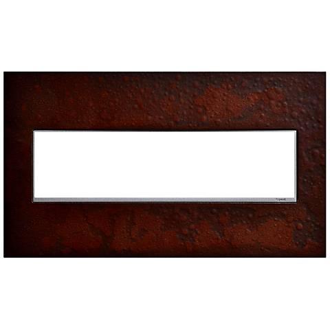 Hubbardton Forge Mahogany 4-Gang Wall Plate