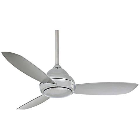 "44"" Concept I Polished Nickel LED Ceiling Fan"