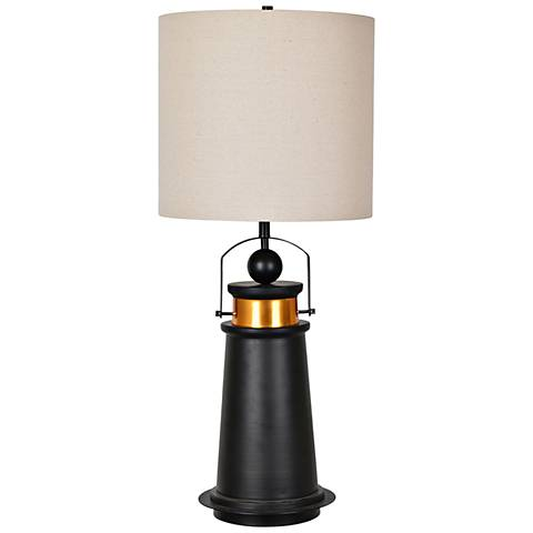 Crestview Collection Marra Iron and Brass Table Lamp