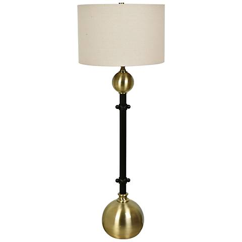 Crestview Collection Andorra Brass and Black Buffet Lamp