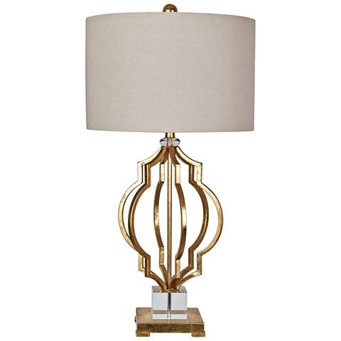 Crestview Collection Parisian Gold Leaf Metal Table Lamp