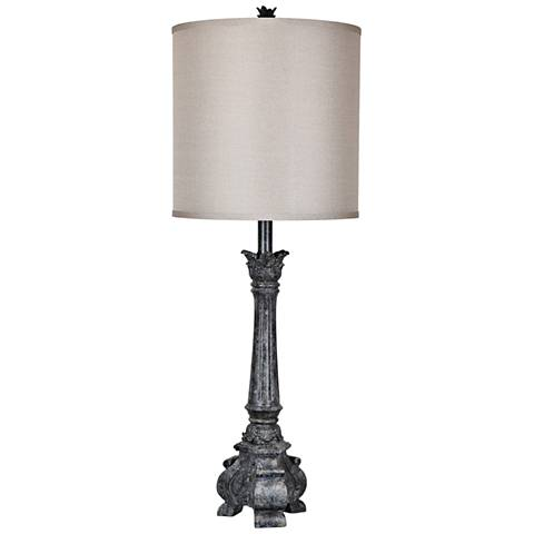 Crestview Collection Noura Antique Black Table Lamp