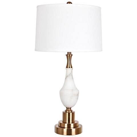 Crestview Collection Roma Alabaster and Brass Table Lamp