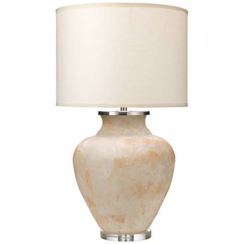 Jamie Young Meringue Antique Wax White Table Lamp