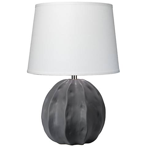 Jamie Young Urchin Matte Taupe Pinched Ceramic Table Lamp