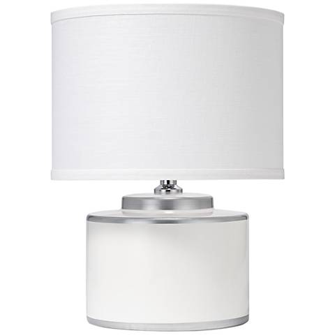 Jamie Young Basin White 2-Tier Ceramic Accent Table Lamp