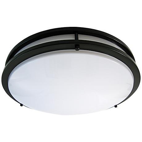 "Zare Bronze 14"" Wide Flushmount LED Ceiling Light"
