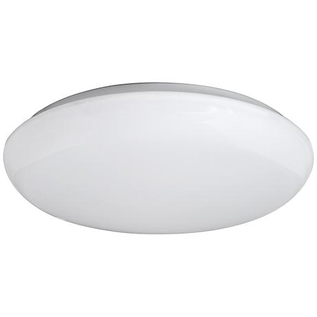 "Levine Shallow Flushmount 14"" Wide White LED Ceiling Light"