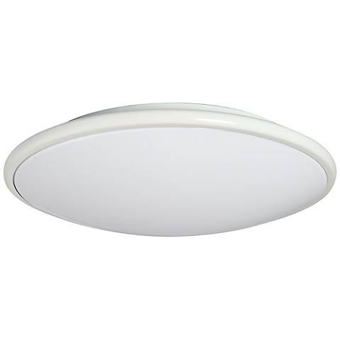 "Partia Flushmount 13"" Wide White LED Ceiling Light"