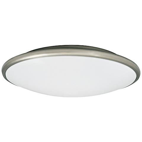 "Partia Flushmount 17"" Wide Nickel LED Ceiling Light"