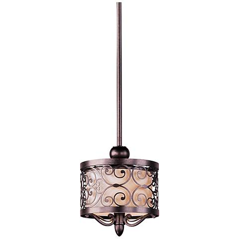 "Maxim Mondrian 13"" High Umber Bronze Mini Pendant Light"