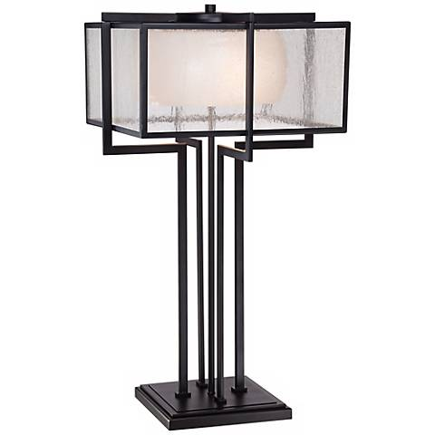 Possini Euro Design Magna Industrial Bronze Table Lamp