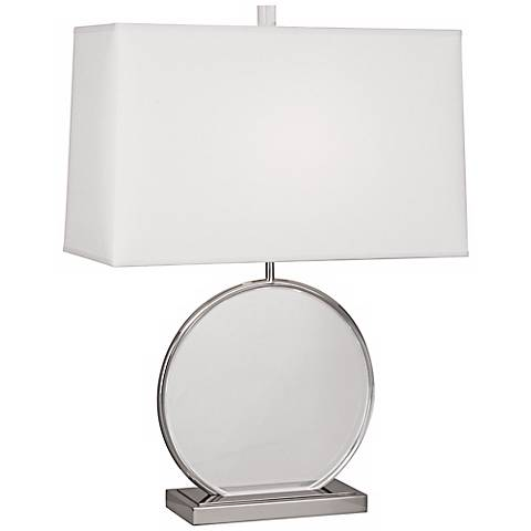 Robert Abbey Alice Polished Nickel Table Lamp