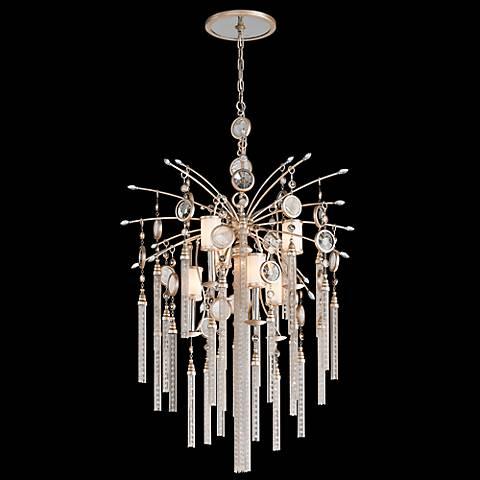 """Corbett Bliss 28"""" Wide Crystal Tassel Pendant Light"""