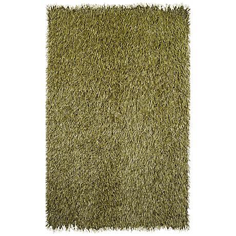 Grazin in the Grass 25150 Green Shag Indoor-Outdoor Rug
