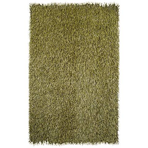 Grazin in the Grass 25150 Green Shag Indoor-Outdoor Rug
