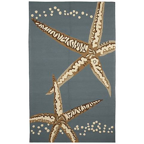 Resort Starfish 25388 Blue Outdoor Rug