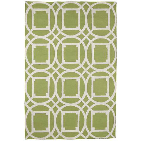 Resort Telescope 25464 Green Indoor-Outdoor Area Rug
