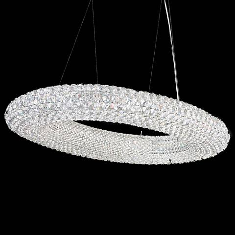 "Schonbek Cassini 37"" Wide Crystal Pendant Light"