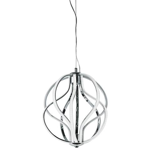 "ET2 Aura 12"" Wide Polished Chrome LED Mini Pendant"