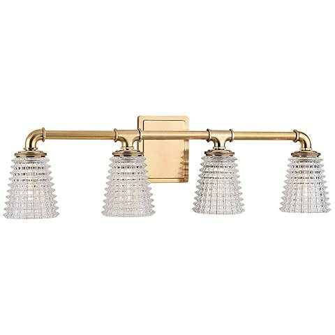 "Hudson Valley Westbrook 27 1/2""W Aged Brass Bath Light"