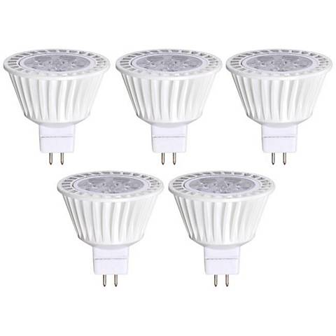 50W Equivalent Bioluz 7W LED Dimmable MR16 Bulb 5-Pack