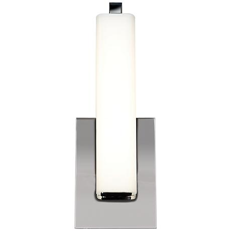 """Chic 4 3/4"""" Wide Chrome Opal Glass LED Wall Sconce"""