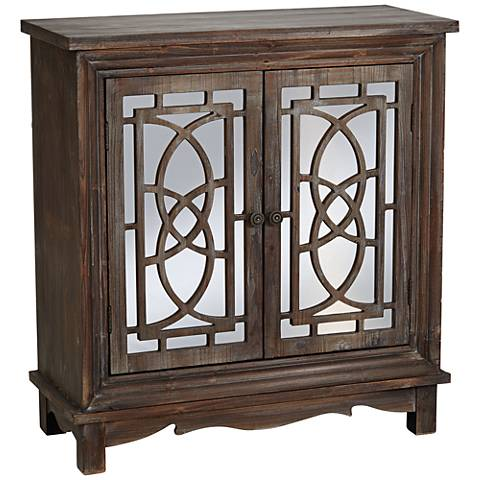 Crestview Ridgeway Dark Rustic Wood 2-Door Cabinet