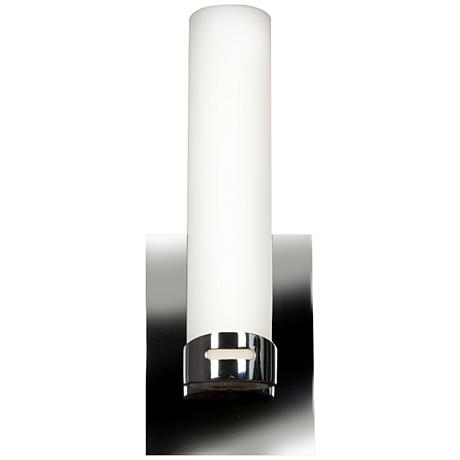 """Chic 4 1/2"""" Wide Chrome Opal Glass LED Wall Sconce"""