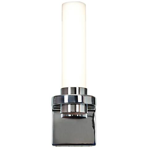"Chic 4 1/4"" Wide Opal Glass Chrome LED Wall Sconce"