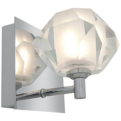 "Glas_e 4 3/4"" Wide Chrome Frosted Glass Sphere Wall Sconce"
