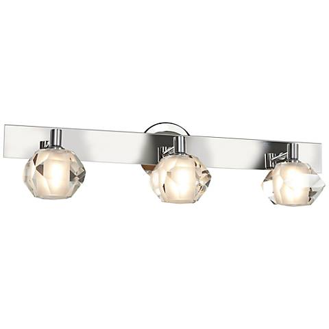 "Glas_e 25"" Wide Chrome Frosted Glass Sphere Bath Light"