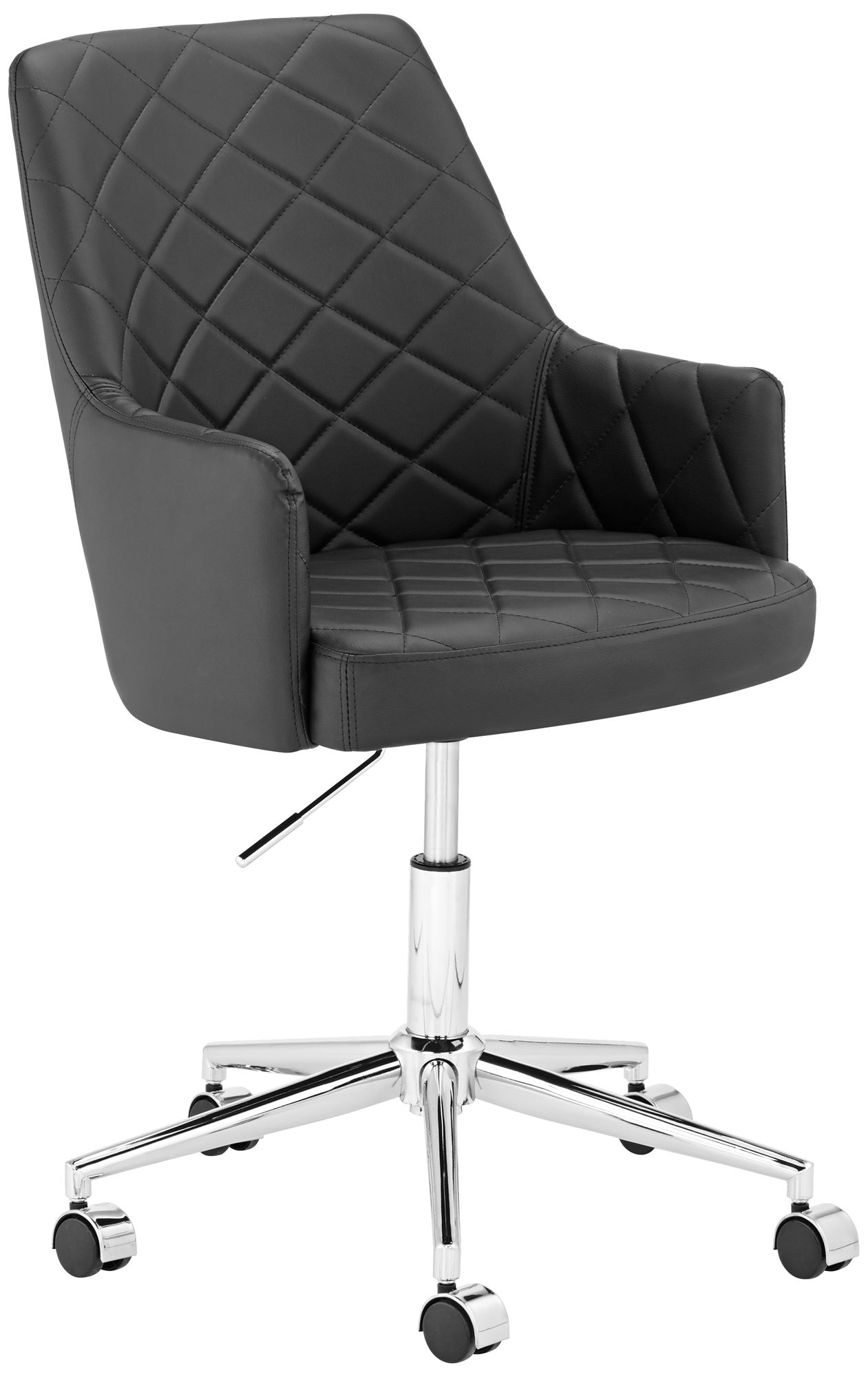 chase black faux leather office chair - Leather Office Chairs