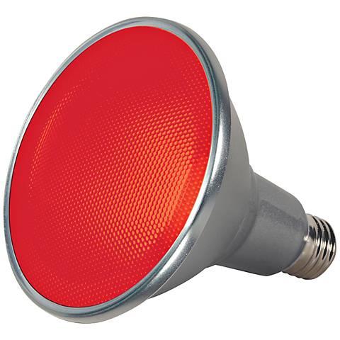 Satco Red 15 Watt Wet Location PAR38 LED Light Bulb