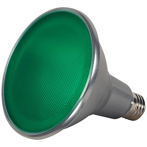 120W Equivalent Green 15W LED Dimmable Standard PAR38 Bulb