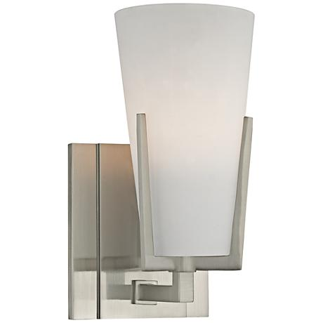 Hudson Valley Upton 8 1 2 High Satin Nickel Wall Sconce 1D593 Lamp
