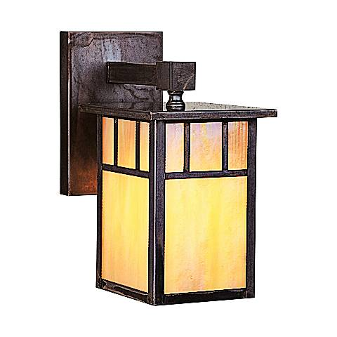 "Huntington 8 3/4"" High Iridescent Gold Outdoor Wall Light"