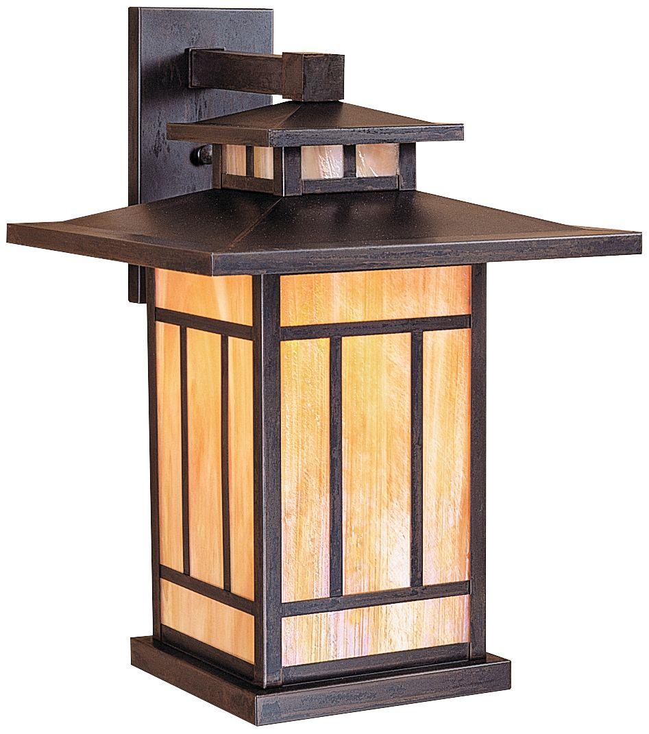 Kennebec 17 1/2  High Iridescent Gold Outdoor Wall Light  sc 1 st  L&s Plus & Arroyo Craftsman Outdoor Lighting   Lamps Plus azcodes.com