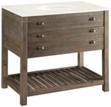 "Crosett Cayhill Cultured Marble 36"" Wide Sink Vanity"